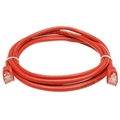 Vanco 3' FT CAT5e Red Patch Cable 350 MHz UTP Network Molded Snagless 24 AWG Copper Stranded RJ45 Male to Male RJ-45 Enhanced Category 5e High Speed Ethernet Data Computer Gaming Jumper, Part # CAT5E3