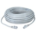 Eagle 25' FT CAT5E Patch Cord Cable White Snagless UTP RJ45 Connector Each End Lan Network Gold Plated 100% Tested 24 AWG Copper Stranded Male to Male Enhanced Category 5e High Speed Ethernet Data Computer Gaming Jumper