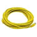 Eagle 1' FT CAT5e Patch Cord Cable Yellow RJ45 Snagless 350 MHz Flush Molded Booted RJ-45 Network Snagless 24 AWG Copper Stranded Male to Male Ethernet Data Computer Gaming Jumper