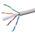 Eagle 500' FT CAT 6 Plenum Cable Gray 550 MHz Ethernet UTP CMP 23 AWG Solid Copper Conductors Certified 4 Twisted Pair Network FastCat UTP CMP Ethernet Certified UL Listed PVC