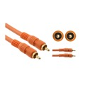 Eagle 12' FT RCA S/PDIF Digital Subwoofer Cable Gold Audio Pro Grade Coaxial Interface Male to Male Orange, Part # CA012O