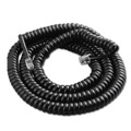 Steren 302-025BK 25' FT Handset Coiled Cord Telephone Black Modular 4 Conductor UL RJ22 Plugs Each End RJ-22 4P4C Phone Line Telephone Hand-Set Snap-In Replacement, Part # 302025-BK