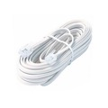 Eagle 7' FT Modular Data Cable Cord RJ11 6P4C Plugs Each End 4 Conductor 28 AWG Data Processing Cable Cord Flat White Modular Wire Data Communication Extension Cable