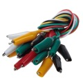 "Eagle Alligator Clip Lead Set 10 Pack 1' FT Long 1"" Inch Color Coded Clips 24 AWG Test Leads Alligator Clip Test Leads 1' FT Length, Heavy Duty Design, 10 Pack"