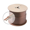 Eagle 1000' FT Speaker Cable 16 AWG 2 Conductor CCA Clear Copper Polarized