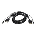 Steren 253-203BK 3' FT SVGA HD15 3.5mm Stereo Monitor Cable Audio PC Laptop Shielded Video Monitor Cable Male Mini Phone Data Transfer Interconnect Computer Cable, Part # 253203-BK