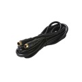 Eagle 50' FT S-Video VHS Gold Plate Cable 4 Pin Mini Din Male to Male Cable with Gold Plated Din Each End Shielded Digital Video Cable TV Connection Cord Premium Output Input Hook-Up Jacks