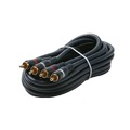 Steren 254-210BL 3' FT Python Dual Audio Cable Male RCA to Male RCA Home Theater Gold Plate Blue Shielded 2-RCA Audio Cable with High-Retention RCA Plug Connectors, Part # 254210-BL