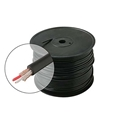 Eagle 100' FT Bulk Microphone Line Cable 22 AWG Black 2 Conductor Copper Shield Ultra Flexible Microphone Cable Black Shield Low-Loss Ultra Flexible Rubber Jacket Pro Grade Copper Shield, Bulk Roll