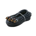 Steren 254-230BL 50' FT Python Dual Audio Cable Male RCA to Male RCA Home Theater Gold Plate Blue Shielded 2-RCA Audio Cable with High-Retention RCA Plug Connectors, Part # 254230-BL