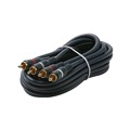 Eagle 75' FT Dual RCA Cable Audio Video Male to Male Gold Python Home Theater 2-RCA Blue Shielded Audio Cable with High-Retention RCA Plug Connectors