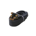 Gizzmo 6' FT 3 RCA Male Cable Video Composite Gold Python Home Theater Triple Stereo Audio Video Bonded RCA Component Plug RCA 3 m/m Connection Kit Hook-Up 75 Ohm Signal Shield with Connectors