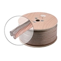 Eagle 1000' FT 18 AWG Ga Speaker Cable Oxygen Free 2 Wire Pure Copper Clear Jacket Polarized Spool Stranded Flexible Copper Conductor 18/2 Audio Speaker Cable Polarized 2-Wire Spool 18 Gauge 2 Conductor