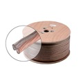 Steren 255-319CL 18 AWG GA Speaker Cable  2 Wire Conductor Copper Polarized Economy Bulk Oxygen Free Audio Speaker Cable Stranded Flexible, Part # 255319-CL, Sold By The Foot