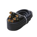 Eagle 50' FT 3 RCA Composite Cable Male to Male Python Gold Home Theater Audio Video Stereo Connectors Blue Shielded RCA Composite Cable