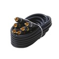 Eagle 75' FT Python 3 RCA Male to 3 RCA Male Composite Cable Gold Plate Connectors Blue Audio Video Shielded Home Theater Stereo RCA Composite Cable