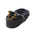 Eagle 100' FT 3 RCA Composite Cable Male to Male Gold Python Home Theater Plate Connectors Blue Audio Video Shielded Stereo RCA Composite Cable