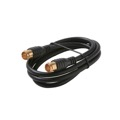 Eagle 3 FT Coaxial Cable Quick Connect with Gold Plate F Connector RG-59 Each End Coaxial Cable RG59 Black Jumper with Push-On F Connectors TV Video Extension Audio Plug Hook Up, 75 Ohm