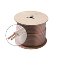 Steren 255-414 500' FT 14 Gauge Clear Jacket Speaker Cable Wire 2 Conductor Zip 100% Copper Pro Grade Pure Copper Speaker Cable HI-FI Digital Audio Home Theater, Cable Spool, Part # 255414-500