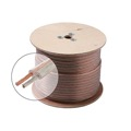 Steren 255-418 18 AWG GA Speaker Cable 2 Conductor 500' FT Clear Jacket Spool Oxygen Free Ultra Flexible Python Copper 18-2 Jacket Audio Speaker Cable Stranded 2 Conductor Polarized 2-Wire Speaker Cable, Part # 255418