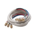 Eagle 25' FT BNC Component Cable RGB Ivory 3 Male to 3 Male HDTV Video Double Shielding Python HDTV 3-BNC to 3-BNC Male 75 Ohm Gold Y/Pr/Pb Pro Grade Color Coded Digital Signal Jumper