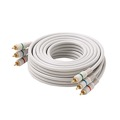 Eagle 100' FT RCA Component Cable Python 3-Male Each End RGB Ivory Gold HDTV Color Coded Connectors Stereo Double Shielded 3-RCA Cable Digital Signal Jumper