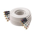 Steren 254-603IV 3' FT RCA Video Cable Component 5 RCA Male to 5 RCA Male Ivory Double Shielding Video Cable 24 K Gold Plate Color Coded Python Digital Signal Hook-Up Jumper, Part # 254603-IV