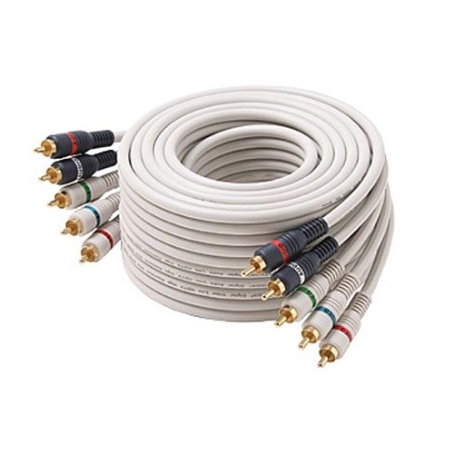 Eagle 6\' FT 5-RCA Component AV Cable Python HDTV Ivory Stereo Audio ...