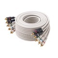 Steren 254-606IV 6' FT Component Video Audio Cable Stereo 5-RCA Male Each End Ivory 24 K Gold Plate Color Coded Python Double Shielded 5- RCA Audio Video Cable Digital Signal Hook-Up Jumper, Part # 254606-IV
