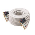 Eagle 12' FT 5 RCA Component Cable Video Audio Gold Plate Python Double Shielded Home Theater Ivory Stereo 5-RCA Male Each End Color Coded 5- RCA A/V Cable Digital Signal Hook-Up Jumper