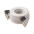 Steren 254-650IV 50' FT 5-RCA Male Component Video Audio Ivory Ribbon Color Coded RGBRW Gold Plated Connectors Python Cable Stereo Double Shielded 5- RCA A/V Cable Digital Signal Jumper, Part # 254650-IV