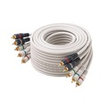 Eagle 75' FT 5-RCA Male Component Video Audio Ivory Ribbon Color Coded RGBRW Gold Plated Connectors Python Cable Stereo Double Shielded 5- RCA A/V Cable Digital Signal Jumper