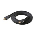Eagle 3' FT HDMI Cable Flat High Speed Black 1080p 1.3 Approved 1080p Video Resolution Male to Male 28 AWG High Definition Multi-Media Interface HDMI Flat Interconnect Cable with Gold Connectors