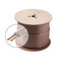 Eagle 100' FT 18 AWG Speaker Cable 2-Conductor Wire Clear Jacket Spool Pure Copper Oxygen Free 18 Ga 18/2 In-Wall Super Flex Digital Audio Signal Home Theater Sound, UL Listed