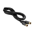 Steren 255-200 6' FT S-Video Cable Gold Plated 24k SVHS Cable 4 Pin Male to Male Super VHS Multimedia Cable Video Signal Satellite Receiver Component Hook-Up Extension Connector, Part # 255200