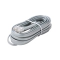 Steren 308-707SL 7' FT Cable Data Modular 8 Conductor Silver Cord Satin Gray Flat RJ45 Telephone Line Flat Cord Voice Data with Plug RJ-45 Connector Both End 8P8C Phone Cross-Wired for VoIP, Part # 308707-SL