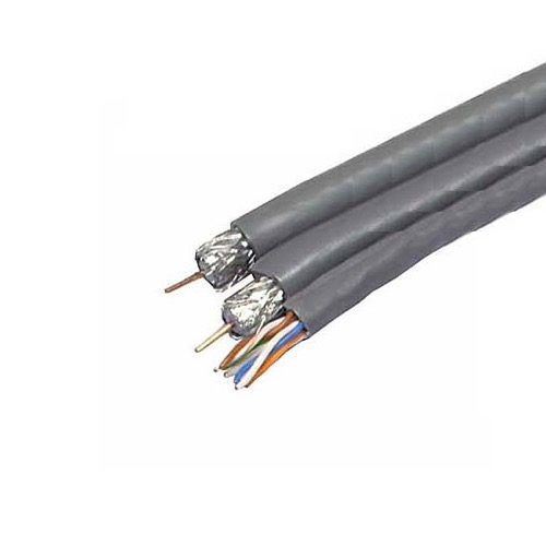 [DHAV_9290]  Steren 300-771GY 2 Dual RG6 Quad Coaxial Cable With 1 CAT5E Gray 350 MHz  Structured Composite Quad S   Rg6 Home Wiring      Summit Source