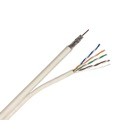Steren 300-772WH Structured Composite Cable 100' FT One RG6 Quad Shielded Siamese One CAT5E Data Video 4-Pair 24 AWG CAT-5E 18 AWG RG-6 Coaxial Cable White Combo Multimedia In-Wall Coaxial Network Cable, Part # 300772-WH