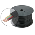 Eagle 500' FT Flat Telephone Modular Cable Black 4 Conductor Wire Copper Flat 28 AWG Stranded Telephone Line Audio Data Signal Jack RJ-11 Hook-Up Extension Cord, Bulk Roll with No Connectors, Part # 300840-BK