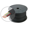 Steren 300-840BK 1000' FT Flat Telephone Modular Cable Black 4 Conductor Wire Copper Flat 28 AWG Stranded Telephone Line Audio Data Signal Jack RJ-11 Hook-Up Extension Cord, Bulk Roll with No Connectors, Part # 300840-BK