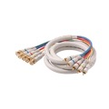 Eagle 25' FT Component Cable 5-BNC Male to 5-RCA Male Python HDTV Ivory Gold Video Audio RGBYW Pro Grade Color Coded Double High Density Shield BNC - RCA Digital Component Signal Jumper