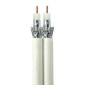 Steren 200-948WH Dual RG6 Coaxial Cable Per Foot White 3GHz CCS 18 AWG UL Dual Coaxial Cable Wire HDTV Satellite Center 60% Braid Dual RG-6 Copper Clad, Part # 200948-WH