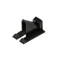 Eagle Vertical Siding Clips Black Single Coaxial Single Pack RG-6 RG-59 Home Exterior TV Video Signal Coaxial Line Snap-In for Vinyl and Aluminum Siding Support Fastener RG59 RG6