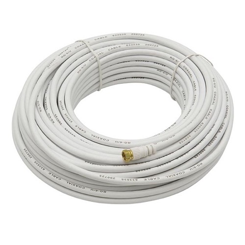 Philips SWV2176W RF Cable Coaxial 50\' FT White Male F-Connector Each ...
