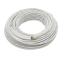 Magnavox 100' FT RG6 Coaxial Cable White with F Type Connector Each End RG-6 Antenna Satellite M61222 Digital Shielded Dish Video Signal, Part # M-61222