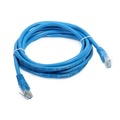Tygerwire 100' FT CAT5e Patch Cord Cable Blue RJ45 24 AWG Copper 350 MHz Bootless Gold Plate UTP Ethernet Network Flush Molded Network Pro Grade, Part # EM-746100