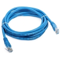 Steren 308-507BL 7 FT CAT5e Cable Blue Patch Cord UTP RJ45 350 MHz Ethernet Network 24 AWG Copper Stranded Male to Male RJ-45 Enhanced Category 5e High Speed Data Computer Gaming Jumper, Part # 308507-BL