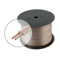 Steren 255-412CL 500' FT 12 AWG GA Speaker Cable Copper General 12 Gauge Clear Bulk 2 Wire Clear Jacket 12/2 Conductor HI-FI Digital Audio Home Theater, Part # 255412-CL