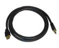 DIRECTV 6' FT Male HDMI to Male HDMI 2 Meter Connection Cable, High Definition Multi-Media Interface Line, Used to Transfer Video Signal Between HDTV Components, Black, Part # HDMIMM6