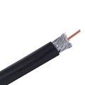 EAGLE 100 FT RG6 Quad Shield Coaxial Cable Direct Burial Outdoor 3GHz Black 18 AWG CCS 100 FT, Part #CAQO11